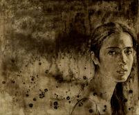 Selfportrait 落茵 92X76 布面综合材料 2007