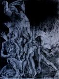 Gate of Hell 山的沉落 188 x 138cm 布面综合材料